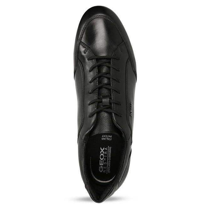 Kožené pánské ležérní tenisky černé geox, černá, 826-6700 - 17