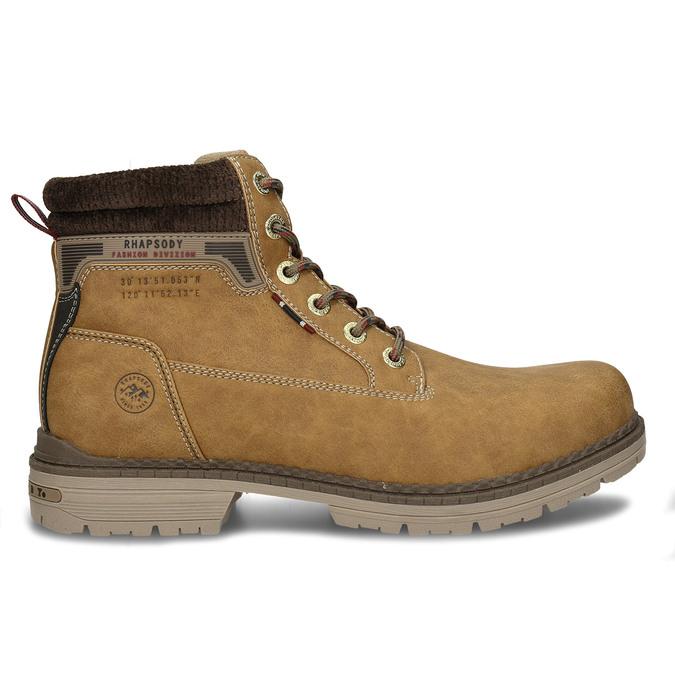 Hnědá pánská kotníková obuv ve farmářském stylu bata, hnědá, 891-8658 - 19