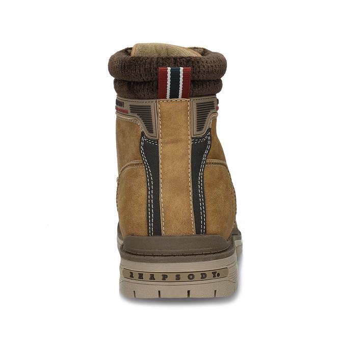Hnědá pánská kotníková obuv ve farmářském stylu bata, hnědá, 891-8658 - 15