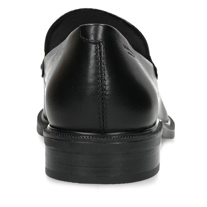 Kožené dámské mokasíny černé vagabond, černá, 514-6614 - 15