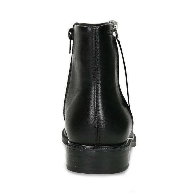 Kožená dámská kotníková obuv na zip vagabond, černá, 594-6703 - 15