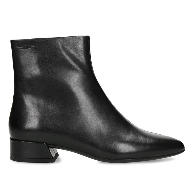 Kožená černá dámská kotníková obuv vagabond, černá, 694-6652 - 19