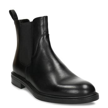 Černá dámská kožená Chelsea obuv vagabond, černá, 594-6705 - 13
