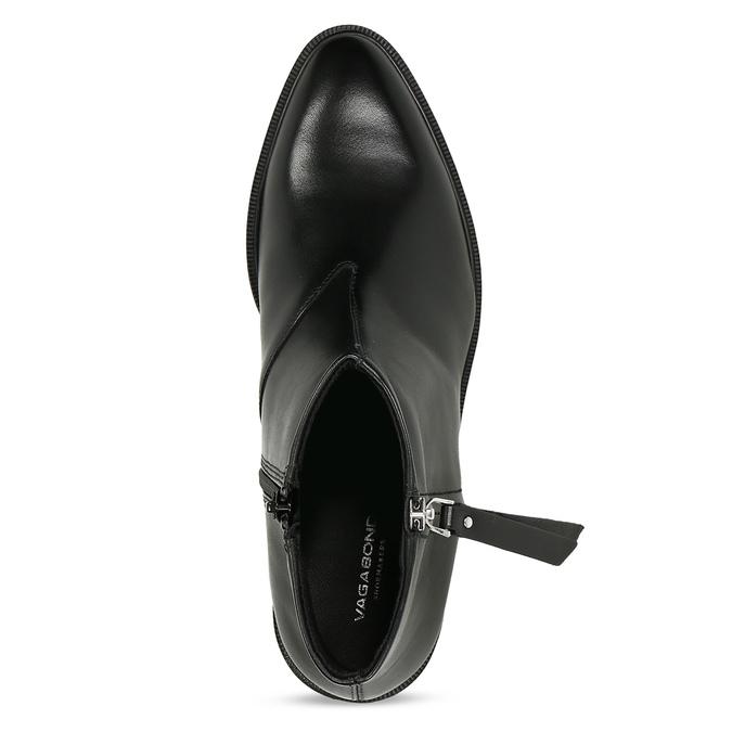 Kožená dámská kotníková obuv na zip vagabond, černá, 594-6703 - 17
