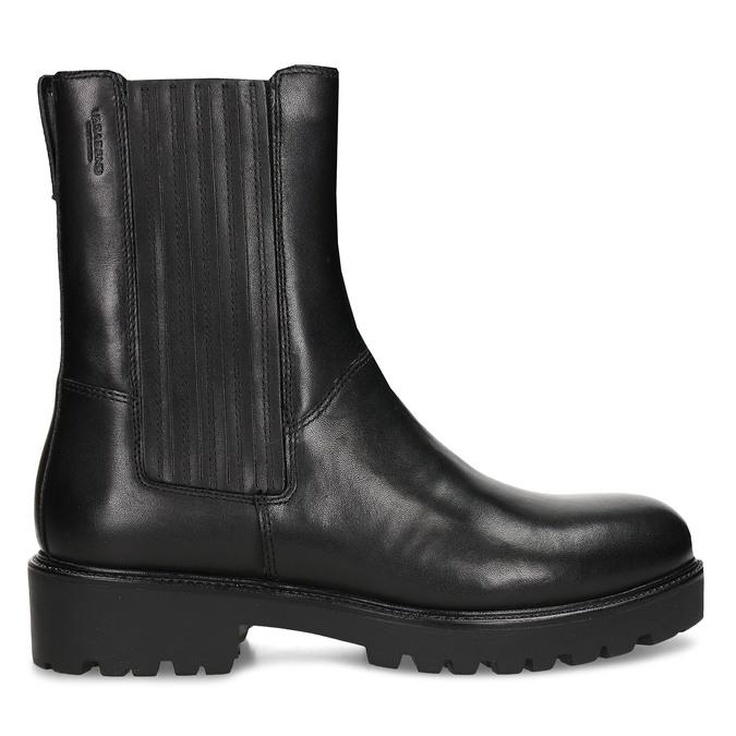 Dámská kožená kotníková obuv na hrubé podešvi vagabond, černá, 694-6648 - 19