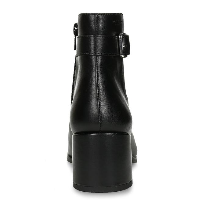 Dámská kotníková obuv v černé kůži s přezkou vagabond, černá, 794-6629 - 15
