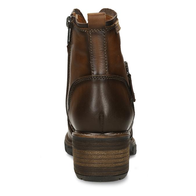 Hnědá dámská kožená kotníková obuv pikolinos, hnědá, 696-4628 - 15
