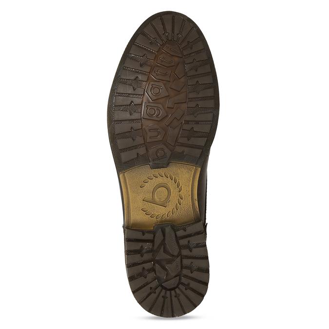 Hnědé pánské kožené kotníkové polobotky na šněrování bugatti, hnědá, 896-4881 - 18