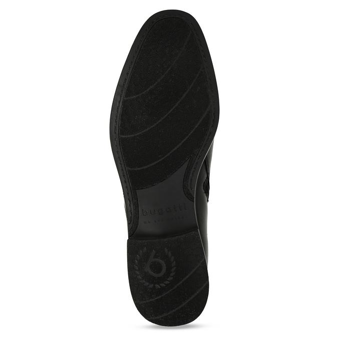 Černá pánská kožená kotníková obuv s přezkou bugatti, černá, 896-6878 - 18