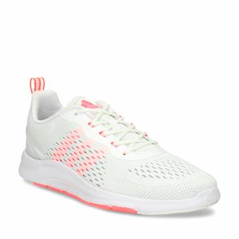 Dámské sportovní tenisky s lososově oranžovými detaily adidas, bílá, 509-1205 - 13