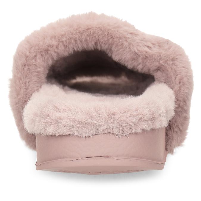 Dámské starorůžové pantofle s kožíškem north-star, růžová, 579-5610 - 15