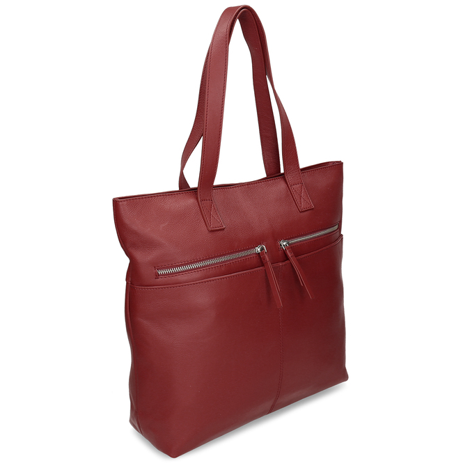 Kožená dámská vínová kabelka bata, červená, 964-5611 - 13