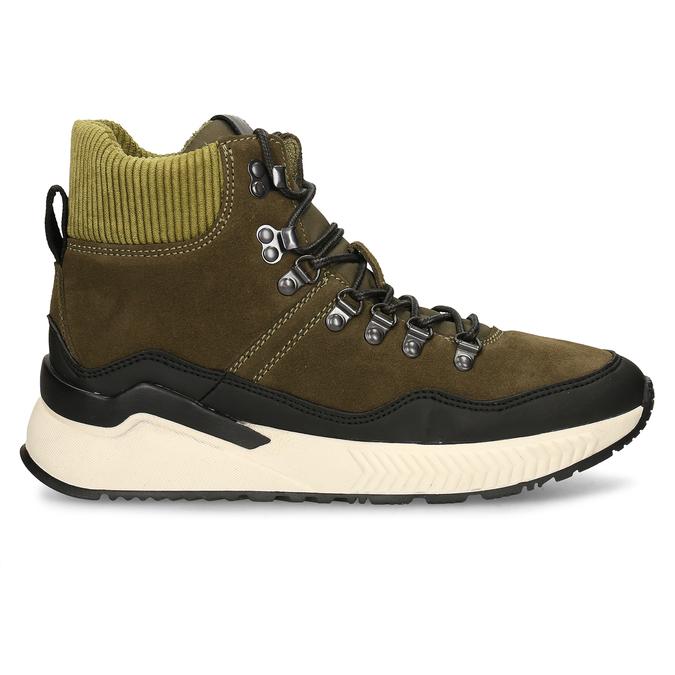 Zelená pánská kožená kotníková obuv na zimu bata, zelená, 893-7620 - 19