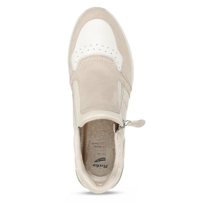 Béžové dámské tenisky na vyšší podešvi bata-light, béžová, 521-8600 - 17