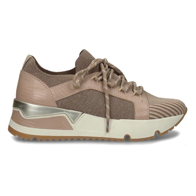 Dámské béžové tenisky na flatformě bata, béžová, 549-8616 - 19