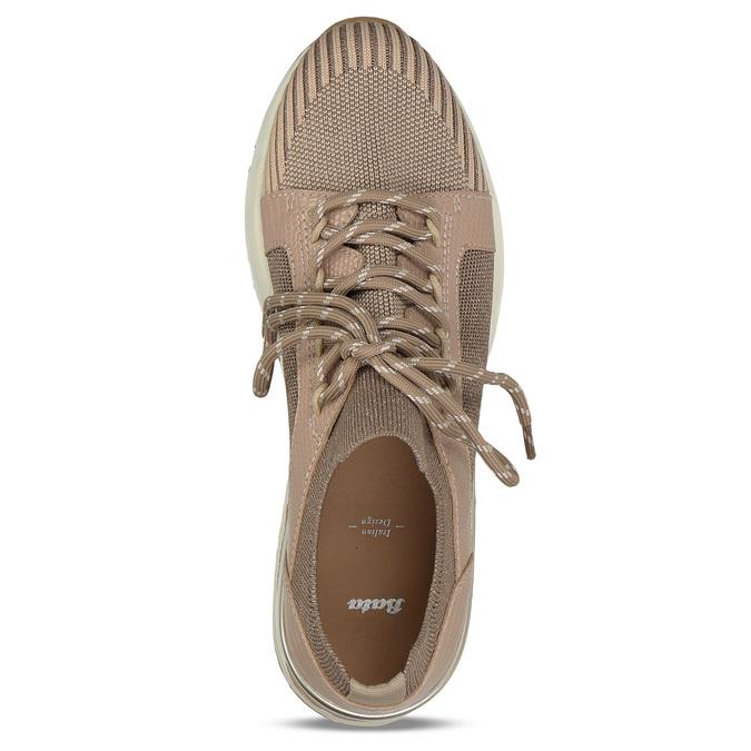 Dámské béžové tenisky na flatformě bata, béžová, 549-8616 - 17