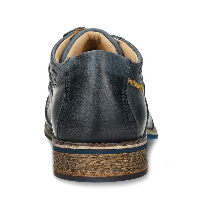 Pánské modré kožené neformální polobotky bata, modrá, 826-9613 - 15