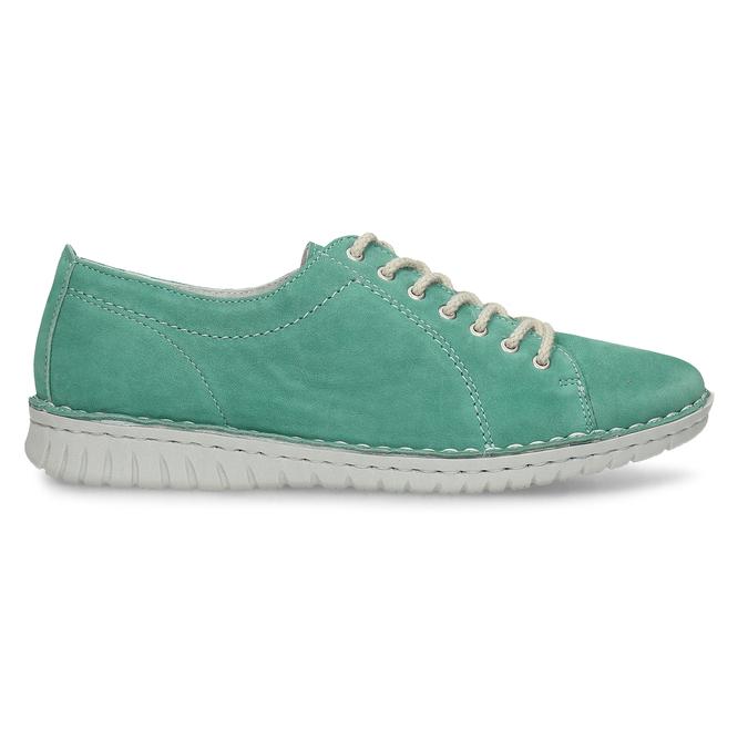 LEŽÉRNÍ ZELENÉ DÁMSKÉ TENISKY KOŽENÉ bata, zelená, 526-7600 - 19