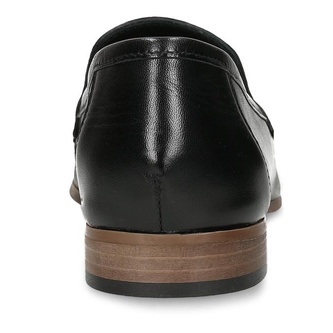 Kožené dámské mokasíny černé bata, černá, 516-6600 - 15