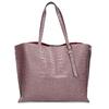 Růžová kožená dámská kabelka s hadím vzorem bata, růžová, 964-5605 - 26