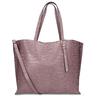 Růžová kožená dámská kabelka s hadím vzorem bata, růžová, 964-5605 - 16
