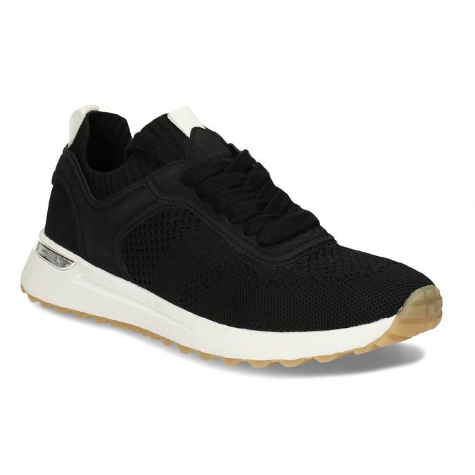 Dámské textilní tenisky černé bata, černá, 549-6617 - 13