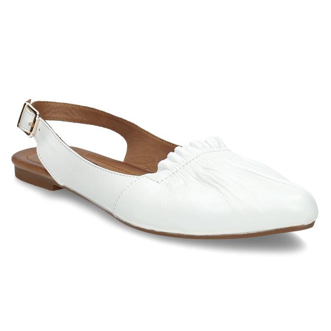 Bílá dámská kožená letní obuv s otevřenou patou bata, bílá, 524-1623 - 13