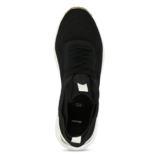 Dámské textilní tenisky černé bata, černá, 549-6617 - 17
