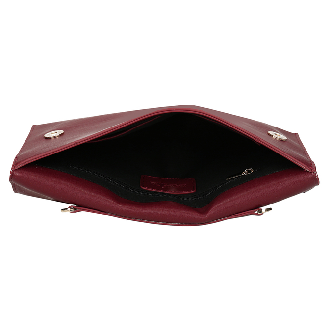 Červeno-vínové dámské psaníčko bata, červená, 961-5648 - 15