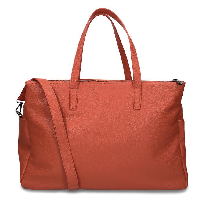 Oranžová dámská kabelka velká bata, oranžová, 961-5646 - 16