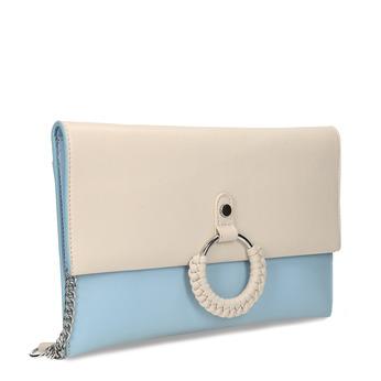 Béžovo-modré dámské psaníčko bata, modrá, 961-0648 - 13
