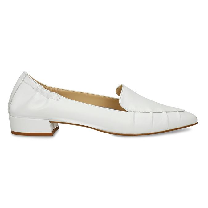 Bílé kožené dámské lodičky do špičky bata, bílá, 524-1618 - 19