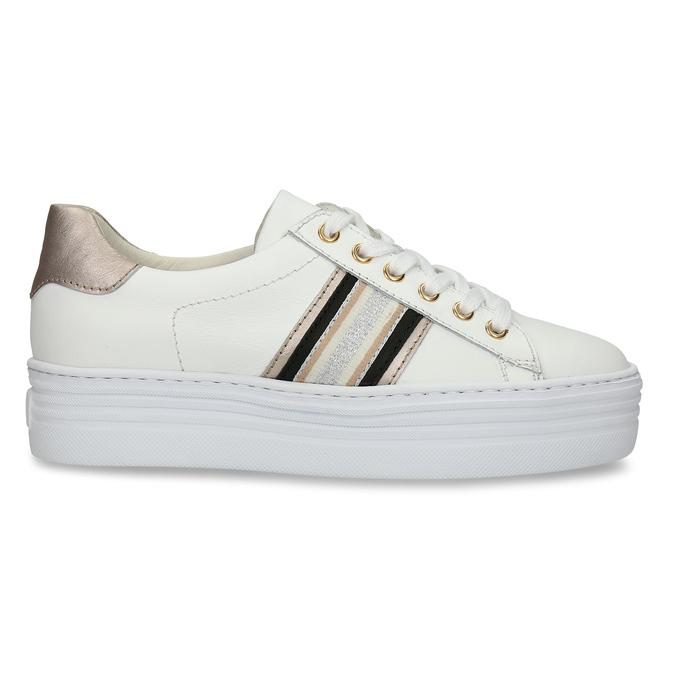 Bílé kožené dámské tenisky na vyšší podešvi bata, bílá, 544-1623 - 19