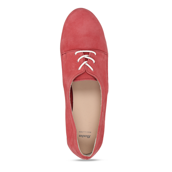 KOŽENÉ DÁMSKÉ LEŽÉRNÍ BALERÍNY ČERVENÉ bata, červená, 526-5602 - 17