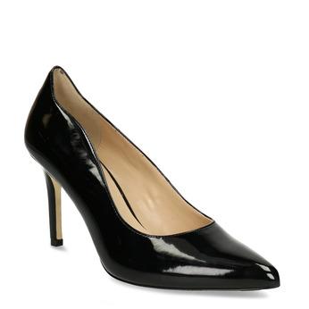 Černé dámské lodičky s koženou stélkou bata, černá, 721-8600 - 13