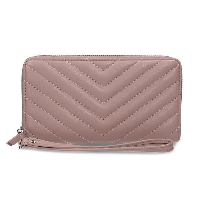 Dámská peněženka s prošitím růžová bata, růžová, 941-0110 - 26