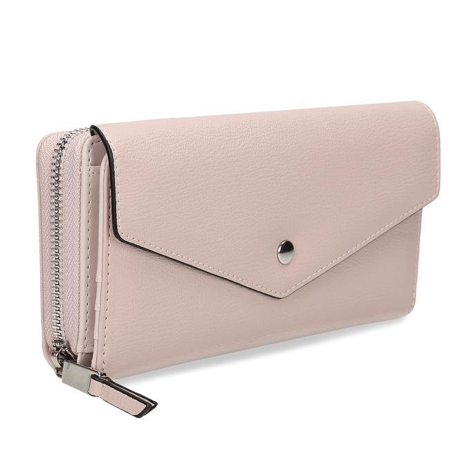 Růžová dámská peněženka s klopou bata, růžová, 941-5112 - 13
