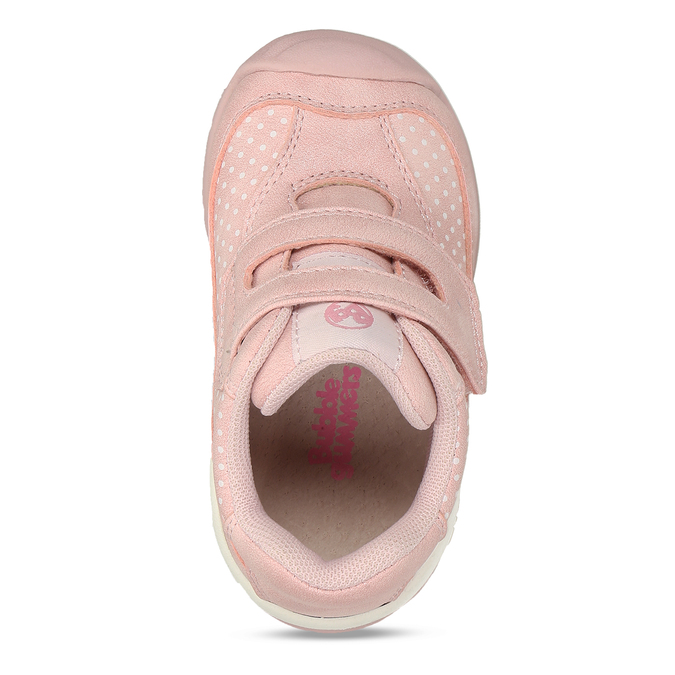 Růžové dívčí tenisky na suchý zip bubblegummers, růžová, 121-5602 - 17