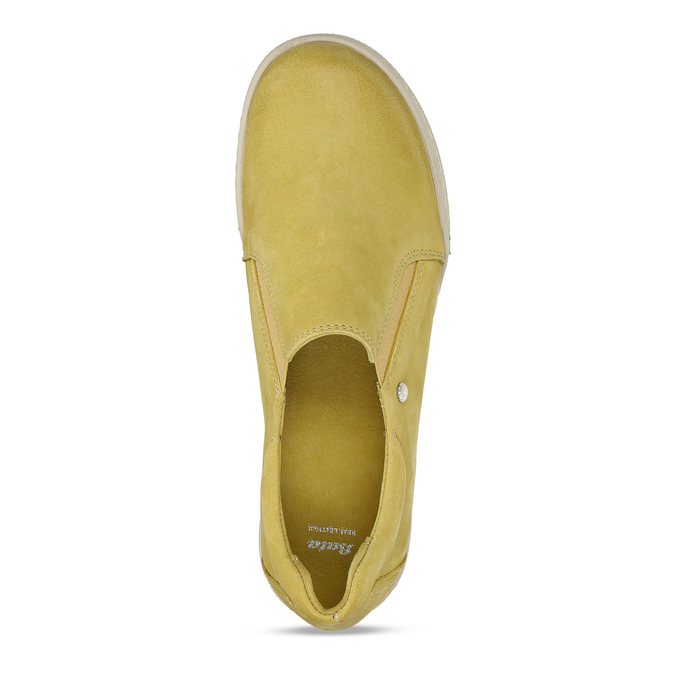 KOŽENÉ DÁMSKÉ SLIP-ON TENISKY ŽLUTÉ bata, žlutá, 526-8600 - 17
