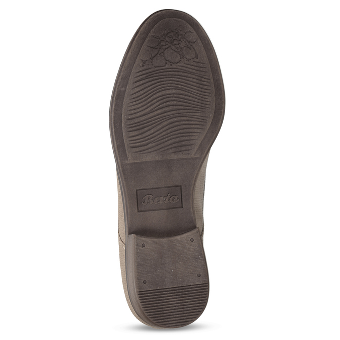 Béžové dámské polobotky bata, béžová, 521-8603 - 18