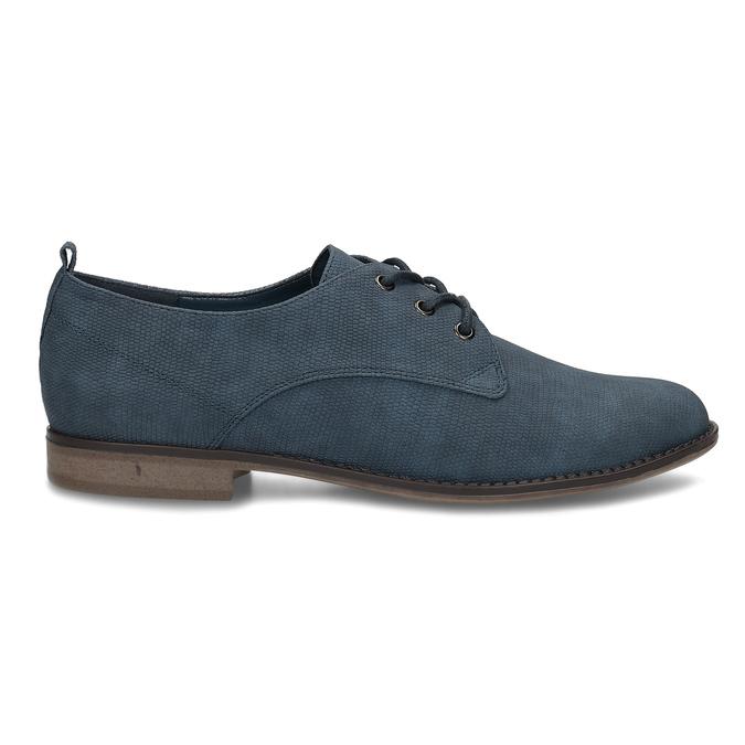 Modré dámské polobotky bata, modrá, 521-9603 - 19