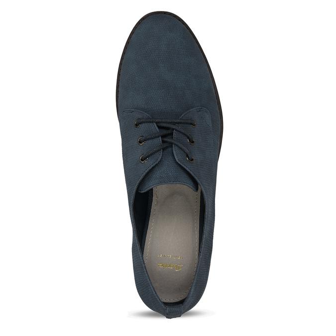 Modré dámské polobotky bata, modrá, 521-9603 - 17