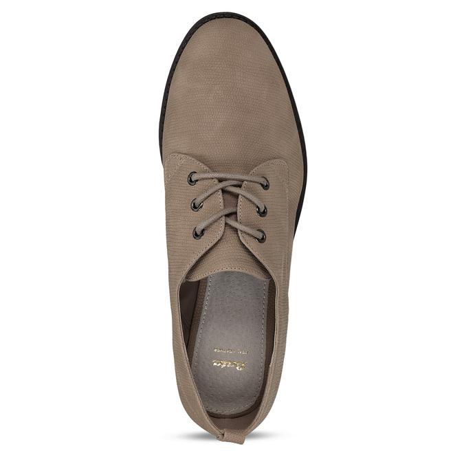 Béžové dámské polobotky bata, béžová, 521-8603 - 17