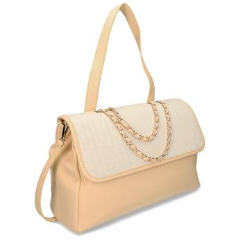 Béžová dámská kabelka s řetízkem bata, béžová, 961-8607 - 13
