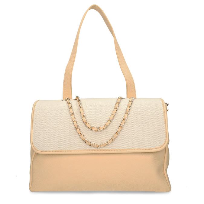 Béžová dámská kabelka s řetízkem bata, béžová, 961-8607 - 26