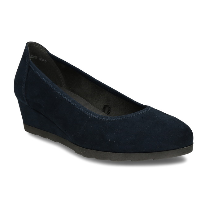 Modré lodičky na klínku bata, modrá, 629-9603 - 13
