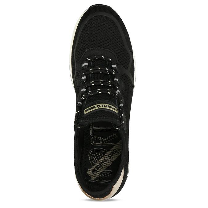 Černé dámské tenisky na klínku north-star, černá, 649-6600 - 17