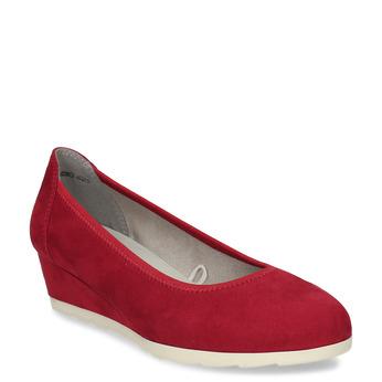 Červené dámské lodičky na klínku bata, červená, 629-5603 - 13