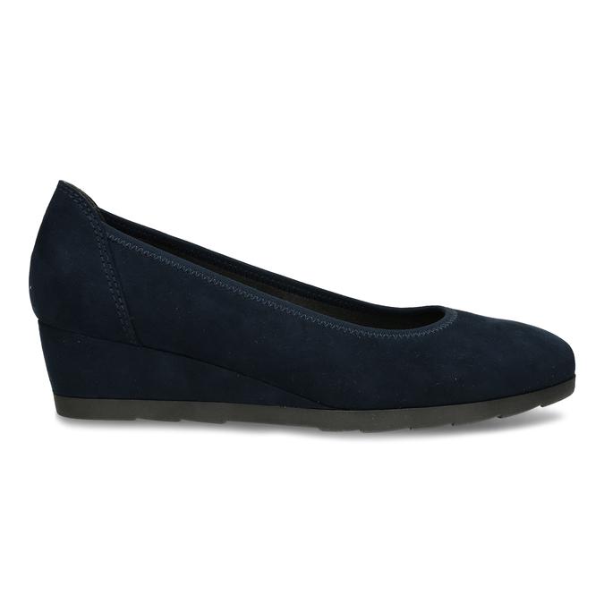 Modré lodičky na klínku bata, modrá, 629-9603 - 19