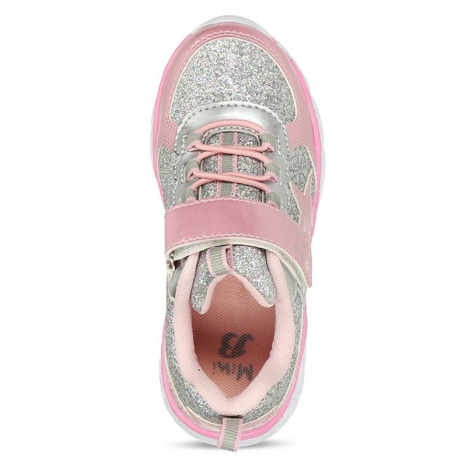 Růžovo-stříbrné dívčí svítící tenisky mini-b, růžová, 221-5601 - 17